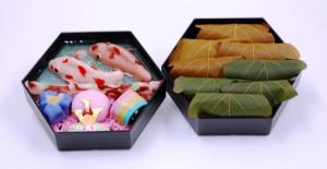 鯉のぼりセット松二段(上生と柏餅8個)②