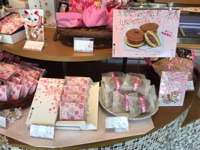 桜商品ディスプレイ2